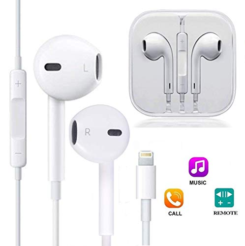 ZestyChef Earbuds, Microphone Earphones Stereo Headphones Noise Isolating Headset Fit Compatible with iPhone 8/8 Plus/7/7Plus/X 10/XS Max/XS/XR (1 Pack)