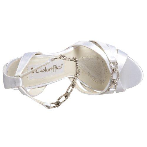 Coloriffics Womens Trista Sandale Blanc