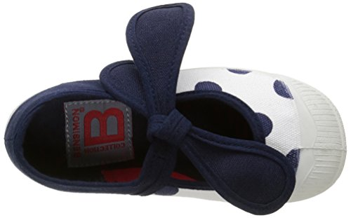 Bensimon Tennis Flo Pois - Zapatillas Unisex niños Azul - Bleu (516 Marine)