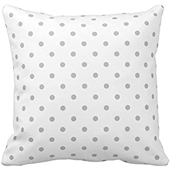Generic Light Gray And White Polka Dot Pattern. Throw Pillow Throw Pillow Case Sofa Decorative Home Custom Cushion Cover 18 X 18 Inch