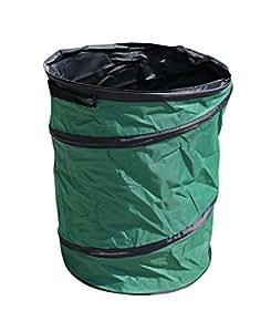 Jard INION Handtuchhalter–Cubo de basura basura Saco para residuos de jardín 600d Oxford de tejido verde de basura Cubo de basura para verde STK