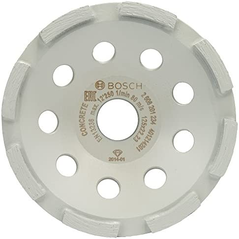 Bosch Professional 2608201234 Schleifstein Teller Diamanttrennscheibe Standard for Concrete 125 x 22,23 x 5 mm