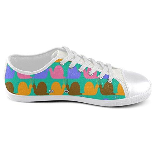 For Neon Men Model016 Canvas Pattern Whimsical Artsadd Shoes Custom Snails qR0v1nHO