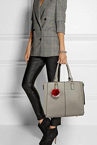 For Design Large Patent Leather Top Grab Designer In Bag Handbag Size Luxury 1 Zip Ladies Women Tote Shoulder Burgundy 5aqPO