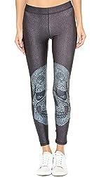 Zara Terez Women's Crystal Skull Performance Leggings, Crystal Skull, Large