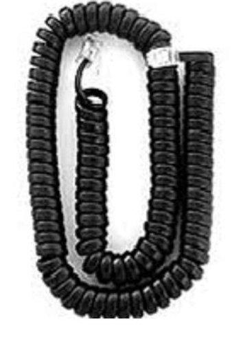 10 Pack- Tuff Jacks 7' Handset Cord Black Mod to Mod