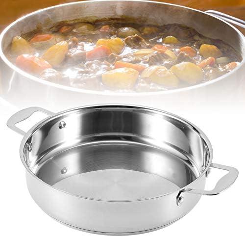 Zer one1 Poêle antiadhésive, Durable résistant aux Hautes températures avec Casserole à Double poignée, cuisinière électrique en céramique pour cuisinière électrique Domestique