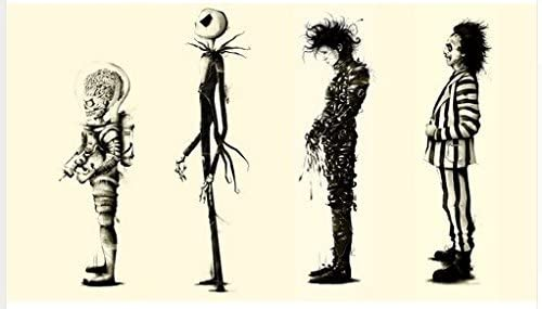 Tim Burton Movies Beetlejuice Edward Scissorhands Custom Wallpaper Classic Bedroom Setting Painting Print Poster Wall Sticker 20 X 30 Inch Amazon Ca Clothing Accessories