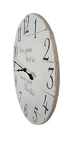 Love grows Best Farmhouse Wall Clock