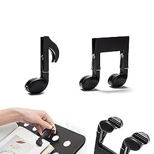 Clips decorativos notas musicales manualidades clip multifunción colgar tela soporte de libro soporte de papel, carpeta archivos bolsa alimentos sellado, ...