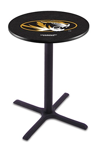 "Holland Bar Stool L211B University of Missouri Officially Licensed Pub Table, 28"" x 42"", Black"