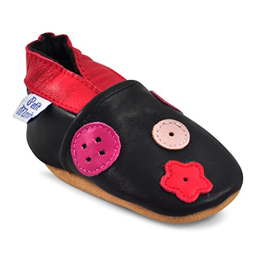 5af6ed193356c Petit Marin Beautiful Soft Leather Baby Shoes with Suede Soles – Toddler   Infant  Shoes - Crib Shoes – Baby First Walking Shoes - Pre-walker Shoes - 40 ...
