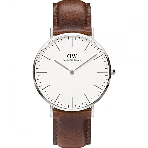 Daniel Wellington Men's Classic St. Mawes 0207DW Brown Leather Quartz Watch - 41QwbyktgkL - 0207DW Watch Daniel Wellington Men's Classic St Mawes Stainless steel case, Leather strap, White dial, Quartz movement, Scratch resistant mineral, Water resistant up to 3 ATM – 30 meters – 100 feet