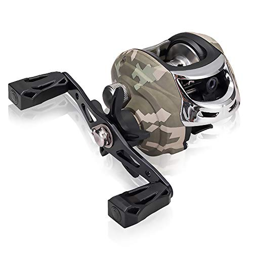 Speed Baitcasting High Reel - lixada Baitcasting Fishing Reel Ball Bearings Gear Ratio High Speed Reel with Magnetic Brake System (Left/Right Hand)