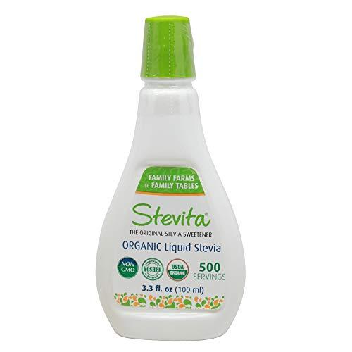 Stevita Organic Liquid Stevia Large - 3.3 Ounces - All Natural Sweetener, Zero Calories - USDA Organic, Non GMO, Vegan, Kosher, Paleo, Gluten-Free - 500 Servings