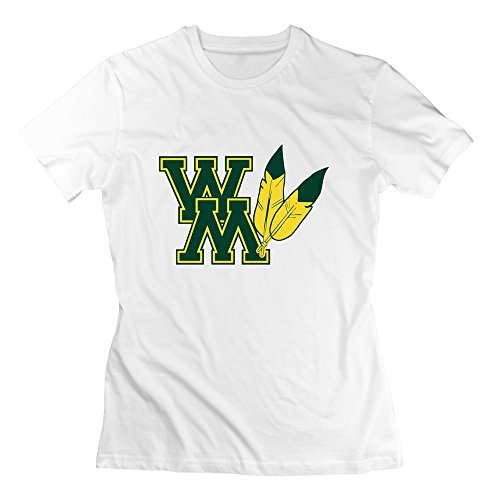 White VAVD Lady's William & Mary Tribe O-Neck T-shirt Size XS - Drums Dark T-shirt