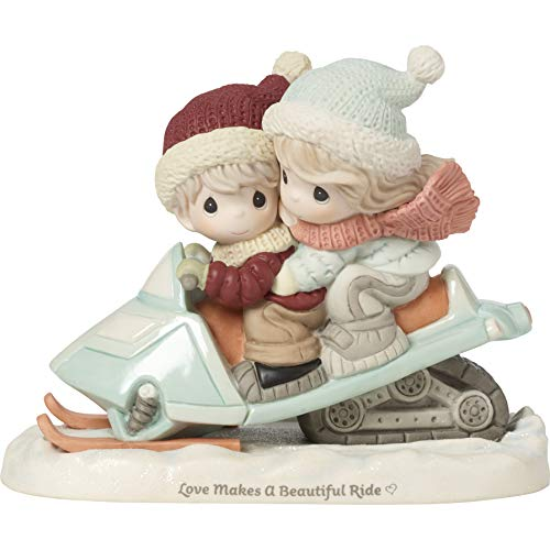 Precious Moments Love Makes A Beautiful Ride Bisque Porcelain 191032 Figurine, One Size, Multi ()