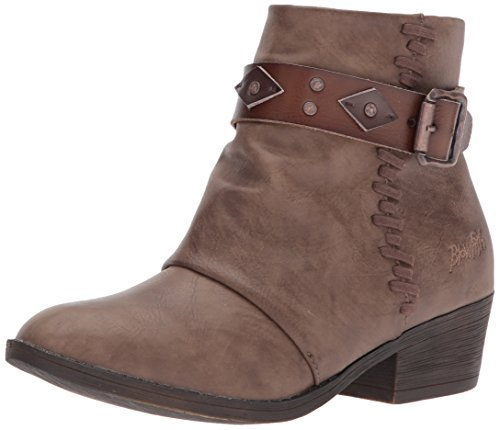 Blowfish Women's Lonestar Bootie Chocolate Ankle Pu Taupe Dyecut Siento Tan a4qwSaf