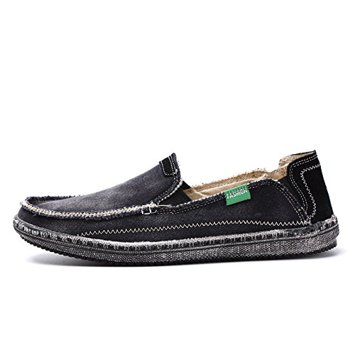 Lixus männer - mode - leinwand schuhe, leinwand, schuhe, leinwand, schuhe, männer - wasser waschen und retro - schuhe,schwarz,45
