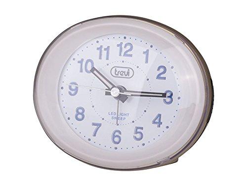 Trevi SL3052 - Compact Bedside Quartz Alarm Clock with LED Backlight - Silent Operation - Quiet no Ticking - Black SL 3052 BLACK1