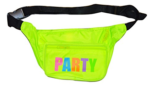 Bam Products- Neon Fanny Party Pack (Yellow-Multi) (Handbag Bam Bags)