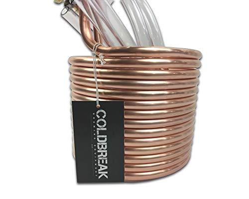 COLDBREAK 25' Wort Chiller, 3/8'', 100% Pure USA Copper, 4' Vinyl Tubing, Heavy-Duty Garden Hose Fitting by Coldbreak Brewing Equipment (Image #3)