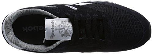 Reebok Gl 1200 - zapatilla deportiva de cuero unisex negro - Schwarz (Black/Flat Grey/White)