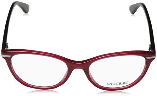 Vogue - VO 2937, Oeil de chat, acétate, femme, RED BLACK(2391), 51/17/140