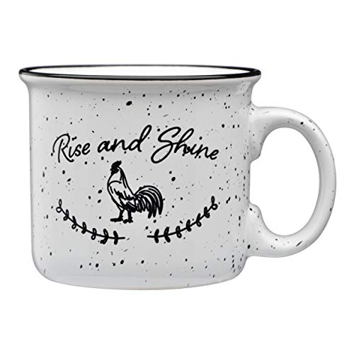 Culver Rise and Shine 14-Ounce Campfire Decorated White Ceramic Mug (Single)