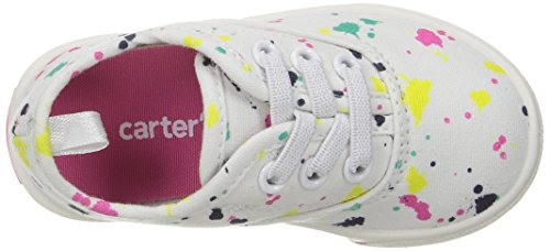 Carter's Piper Girl's Casual Sneaker, White/Print, 10 M US Toddler by Carter's (Image #8)