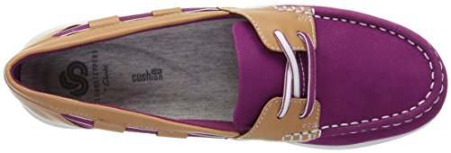 CLARKS Womens Jocolin Vista Boat Shoe, Deep Fuchsia Synthetic, 10 Medium US