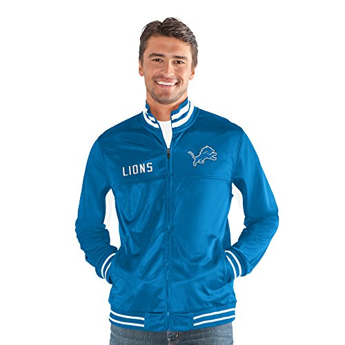 G-III Sports NFL Detroit Lions Big Shot Track Jacket, X-Large, Royal