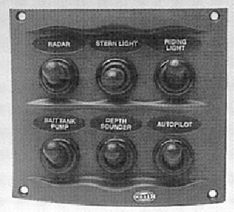 hella h73070031 gray 2 row 4 way compact switch panel