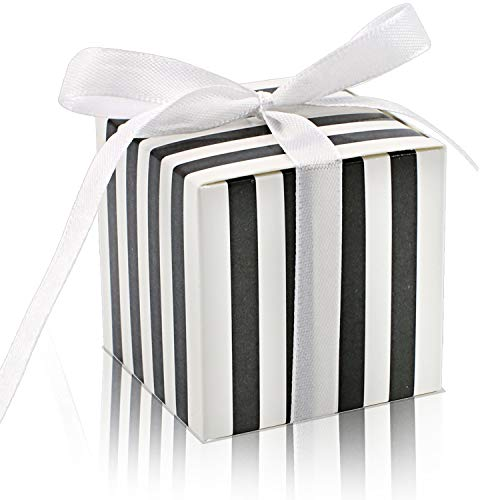 KPOSIYA 70 Pack Candy Boxes Black and White