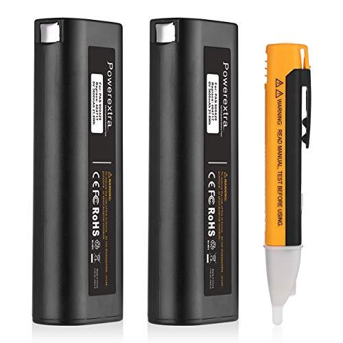 Powerextra 2 Pack 6V 3600mAh NI-MH Battery Compatible with Paslode 404717 B20544E BCPAS-404717 404400 900400 900420 900600 901000 902000 B20720 CF-325 IM200 F18 IM250 IM250A IM350A IM350CT PS604N