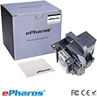 ePharos ELPLP49 / V13H010L49 Compatible Bulb Inside Replacement Lamp with Housing for EPSON PowerLite Home Cinema 6100/6500UB/8100/8345/8350/8500UB/8700UB;EPSON PowerLite Pro Cinema 7100/7500UB/9100/9350/9500UB/9700UB; EH-TW2800/TW2900/TW3000/TW3200/TW3500/TW3600/TW3800/TW4000/TW4400/TW4500/TW5000/TW5500/TW5800/TW8500; EMP-TW3800/TW5000/TW5500. EPSON H291A/H292A/H337A/H373B/H700;