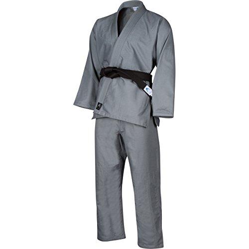 Athllete Jiu Jitsu Gi/Kimono/BJJ Uniform with Preshrunk Fabric and Free White Belt (A5, Grey)