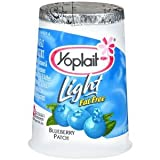 YOPLAIT YOGURT LIGHT FAT FREE BLUEBERRY PATCH 6 OZ PACK OF 8