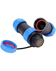 SP21 IP68 2/3 /4/5 /7/9 /12pin Waterproof Aviation Plug Socket Cable in-line Connector