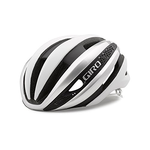 Racing Helmet Giro Bicycle - Giro Synthe MIPS Equipped Bike Helmet - White/Silver Medium