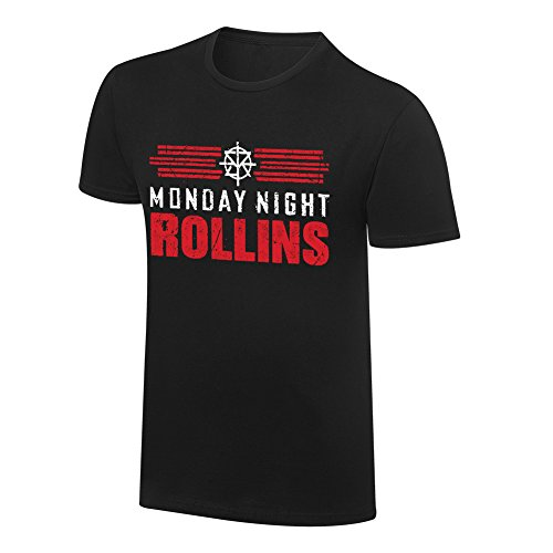 WWE Seth Rollins Monday Night Rollins T-Shirt Black Medium by WWE Authentic Wear