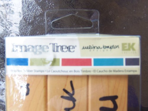Ek Success Image Tree Wood Handle Rubber Stamp Set, Melissa Baxter Thank You - Ek Image Tree Rubber Stamp