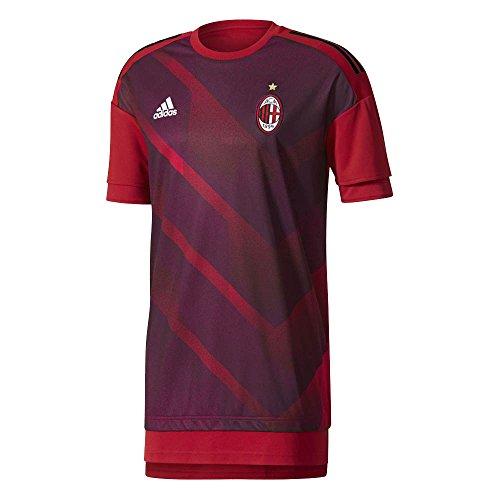 2017-2018 AC Milan Adidas Pre-Match Training Shirt - Shirt Training Milan