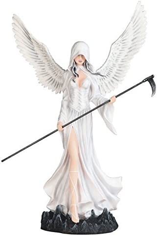 StealStreet SS-G-91857, Large Scale White Winged Dark Angel Fairy Decorative Figurine