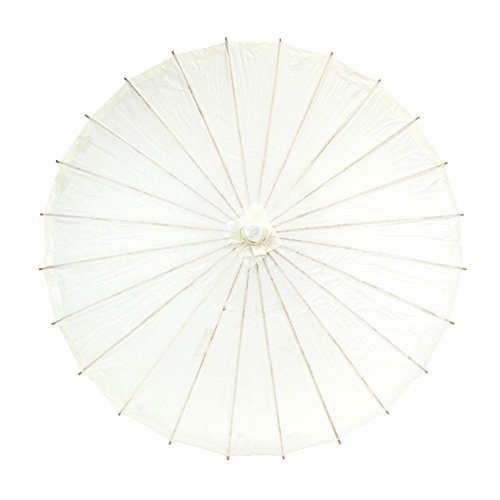 Best Celebrity Costumes 2016 (Koyal Wholesale 32-Inch Paper Parasol, Umbrella for Wedding, Bridesmaids, Party Favors, Summer Sun Shade (1, Ivory))