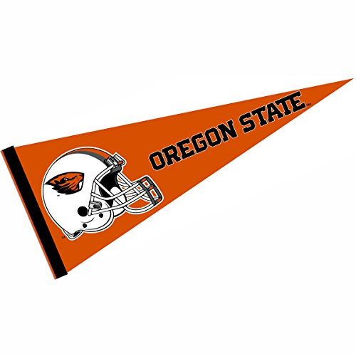 College Flags and Banners Co. OSU Beavers Football Helmet Pennant - Oregon State University Helmet