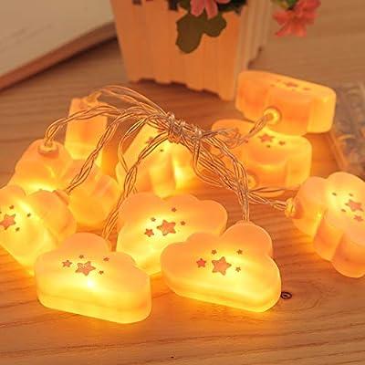 Hot Sale!DEESEE(TM)1.65Meter Pink Cloud Pendant Light Battery Box Bedroom Romantic Decoration Light Valentine's Day