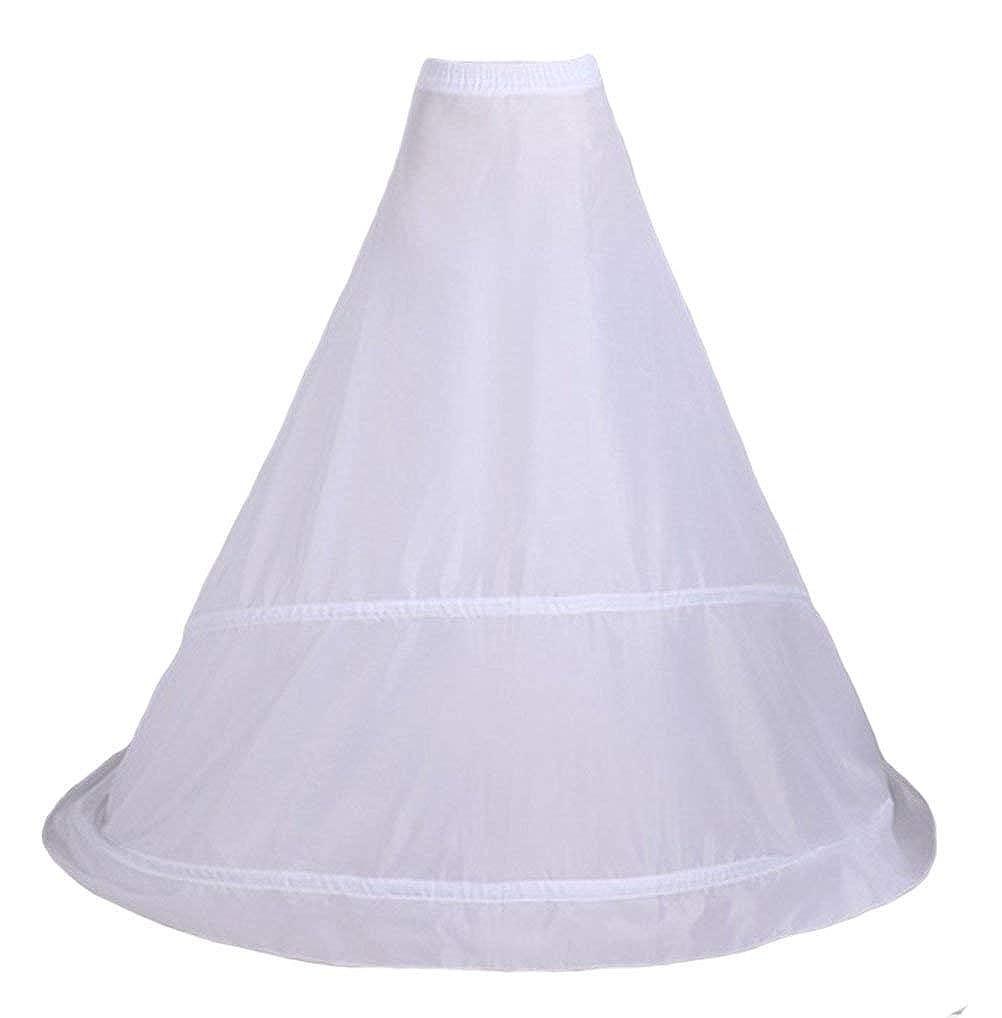 kivie 2 Cerchio Sottogonna Fishtail Sirena di Petticoat Crinolina Sottoveste Bianca per Vestito Abito da Sposa