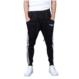 Mooncolour Men's Casual Slim Fit Jogging Harem Pants,X-Small,Black