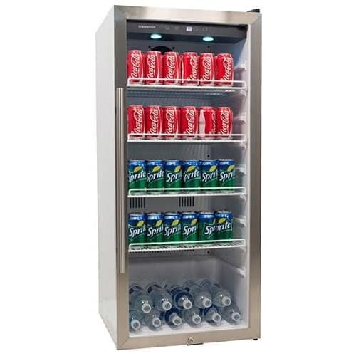 EdgeStar VBR240 8.6 Cu. Ft. Commercial Beverage Merchandiser - White and Stainless Steel by EdgeStar